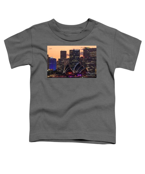 Sydney At Sunset Toddler T-Shirt by Matteo Colombo