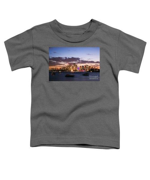 Sydney Skyline At Dusk Australia Toddler T-Shirt by Matteo Colombo
