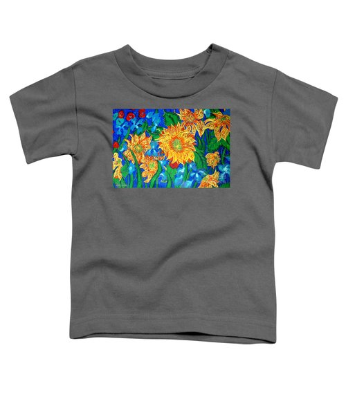 Symphony Of Sunflowers Toddler T-Shirt