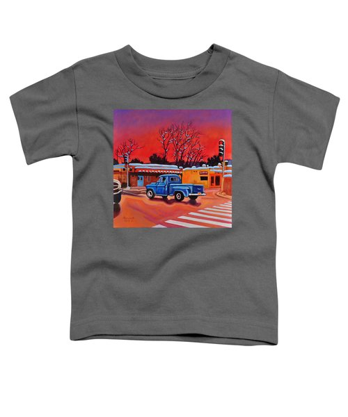 Taos Blue Truck At Dusk Toddler T-Shirt