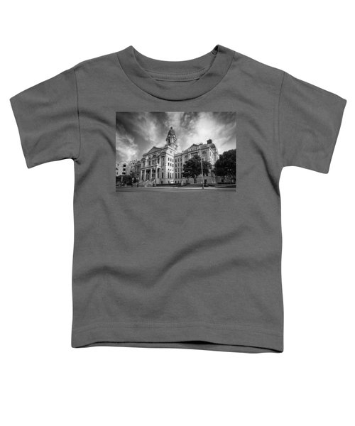 Tarrant County Courthouse Bw Toddler T-Shirt