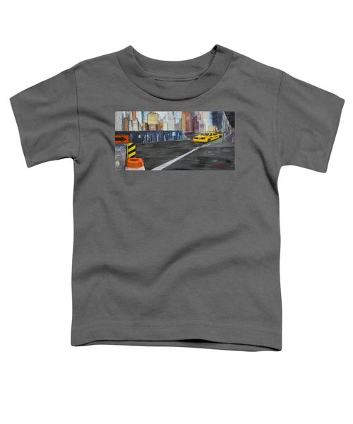 Taxi 9 Nyc Under Construction Toddler T-Shirt