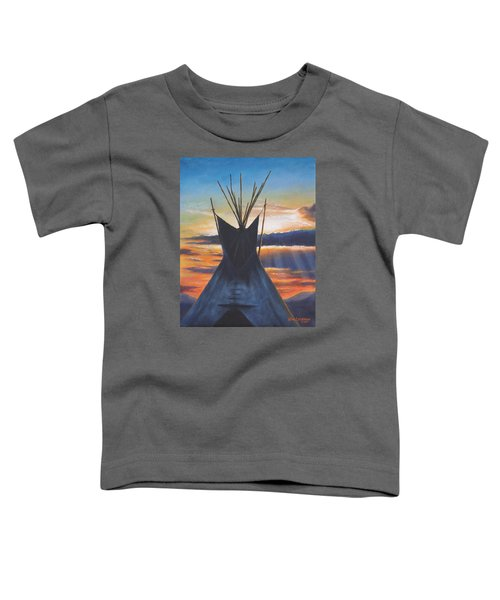 Teepee At Sunset Part 1 Toddler T-Shirt