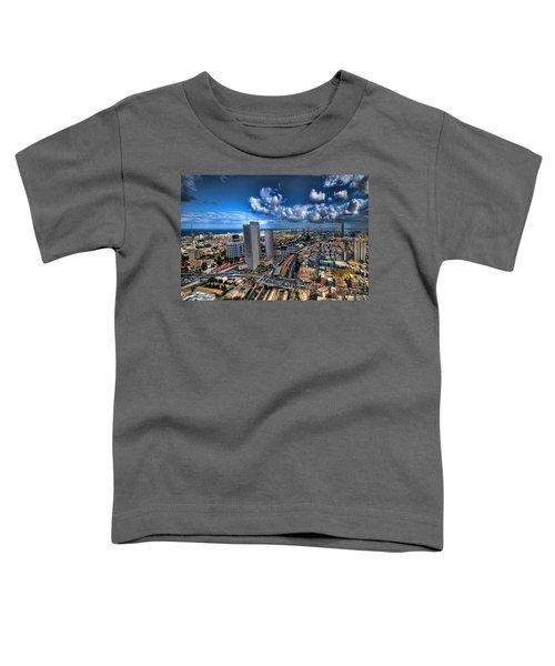 Tel Aviv Center Skyline Toddler T-Shirt