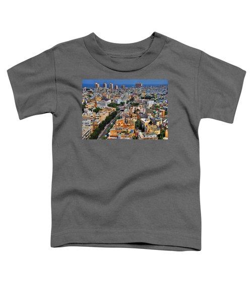 Tel Aviv Eagle Eye View Toddler T-Shirt