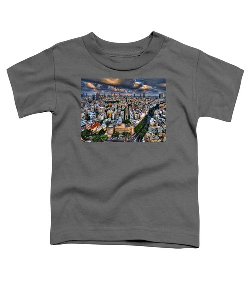 Tel Aviv Lookout Toddler T-Shirt by Ron Shoshani
