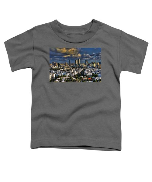 Tel Aviv Skyline Fascination Toddler T-Shirt