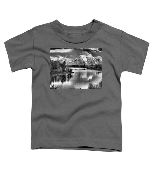 Tetons In Black And White Toddler T-Shirt