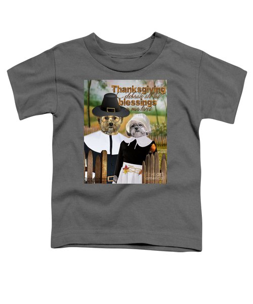 Thanksgiving From The Dogs-2 Toddler T-Shirt