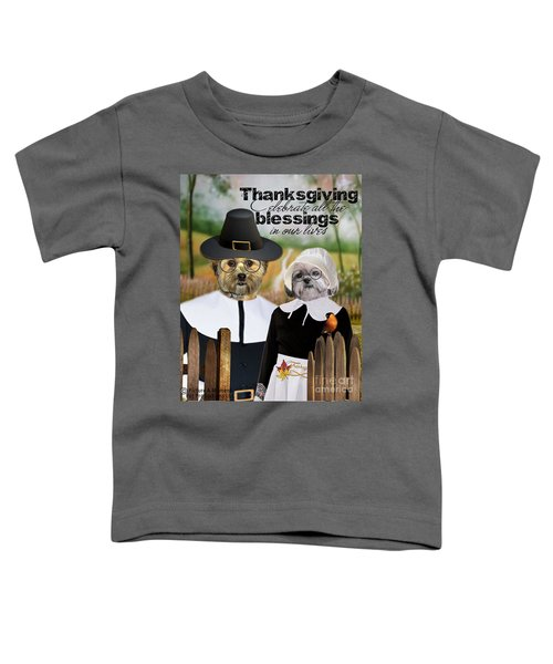 Thanksgiving From The Dogs Toddler T-Shirt