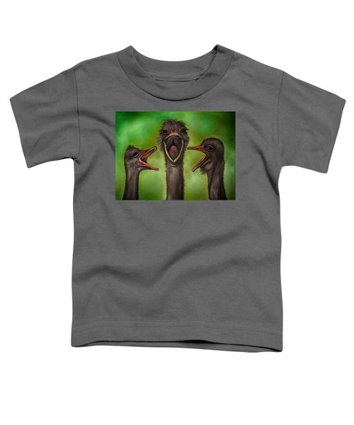 The 3 Tenors Edit 2 Toddler T-Shirt by Leah Saulnier The Painting Maniac