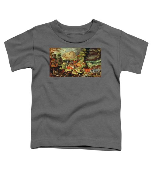 The Animals Entering The Ark Toddler T-Shirt by Jacob II Savery