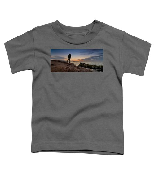The Backpacker Pano Toddler T-Shirt