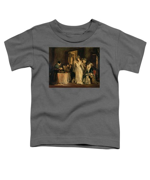 The Bride At Her Toilet On The Day Of Her Wedding, 1838 Oil On Canvas Toddler T-Shirt