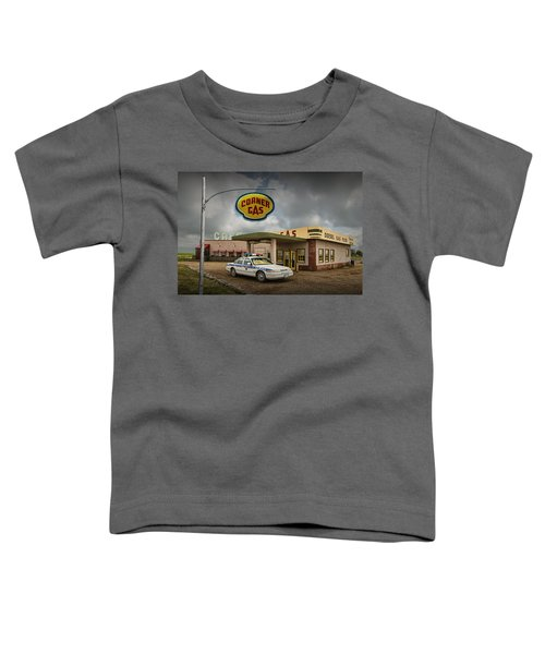 The Corner Gas Station From The Canadian Tv Sitcom Toddler T-Shirt