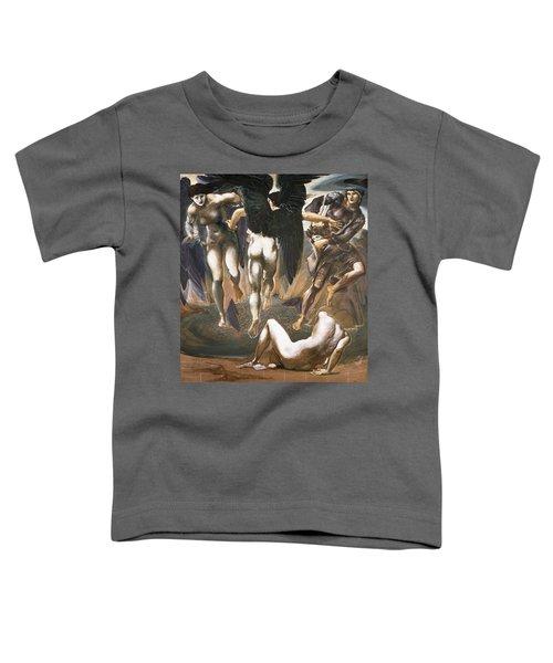 The Death Of Medusa II, 1882 Toddler T-Shirt by Sir Edward Coley Burne-Jones