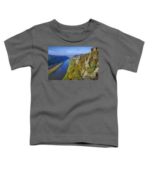The Elbe Sandstone Mountains Along The Elbe River Toddler T-Shirt