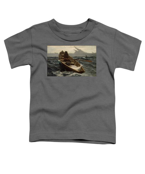 The Fog Warning .halibut Fishing Toddler T-Shirt