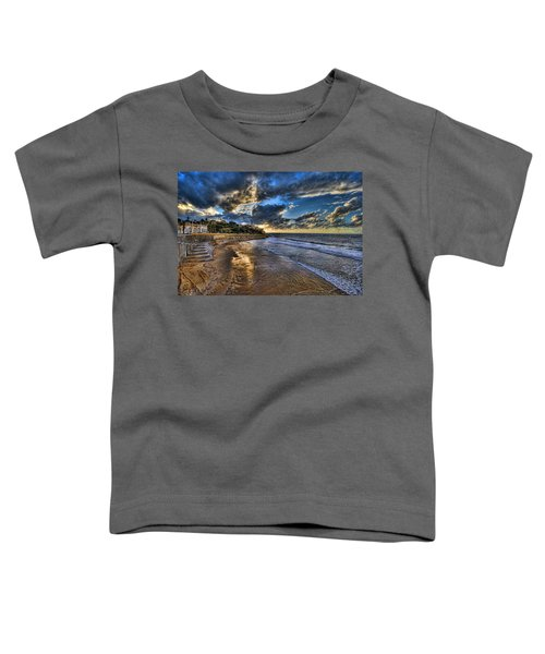 the golden hour during sunset at Israel Toddler T-Shirt