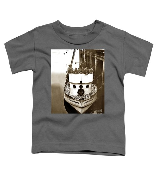 The Happy Crew Of The Fishing Boat  Geraldine- Ann Monterey California 1939 Toddler T-Shirt