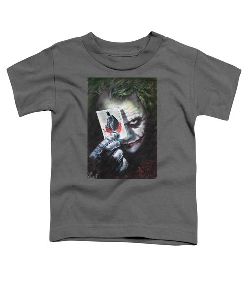 The Joker Heath Ledger  Toddler T-Shirt by Viola El