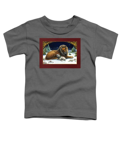 The Lion And The Lamb Toddler T-Shirt