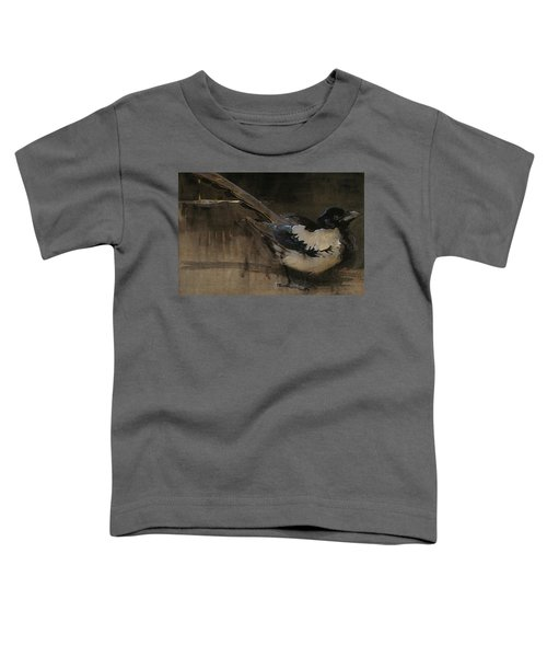 The Magpie Toddler T-Shirt by Joseph Crawhall