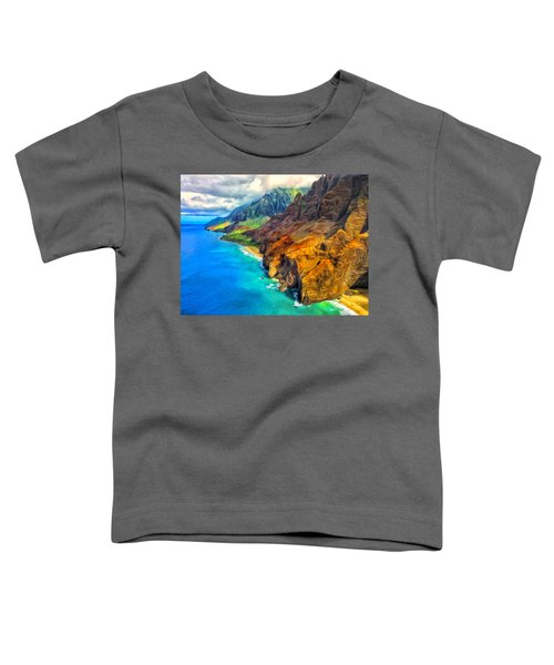 The Na Pali Coast Of Kauai Toddler T-Shirt