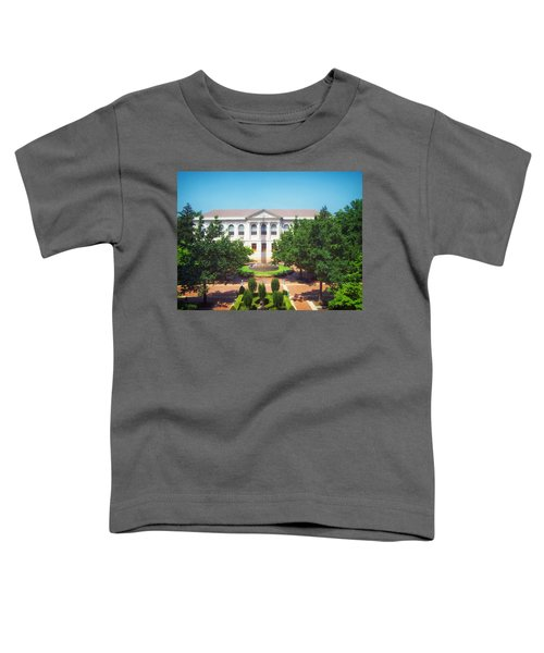 The Old Main - University Of Arkansas Toddler T-Shirt by Mountain Dreams
