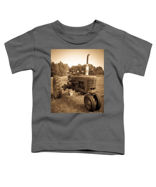 The Old Tractor Sepia Toddler T-Shirt