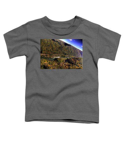 Toddler T-Shirt featuring the photograph The River Below by Jonny D