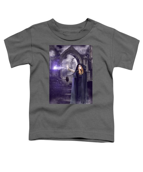 The Spell Is Cast Toddler T-Shirt by Linda Lees