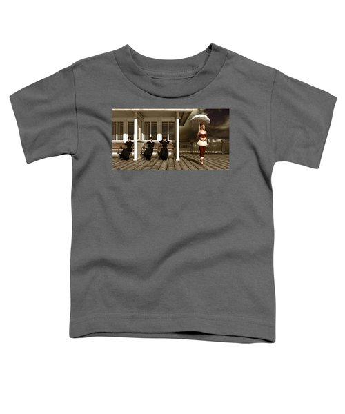 Three Victorian Ladies Sepia Toddler T-Shirt