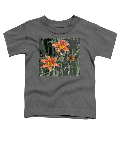 Tiger Lilies Of Canvas Toddler T-Shirt