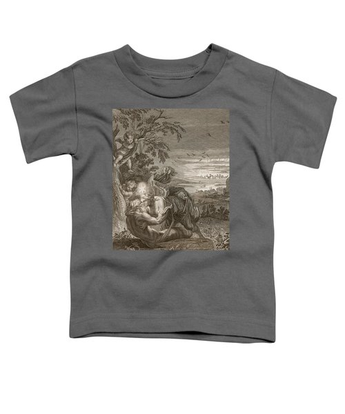 Tithonus, Auroras Husband, Turned Into A Grasshopper Toddler T-Shirt by Bernard Picart