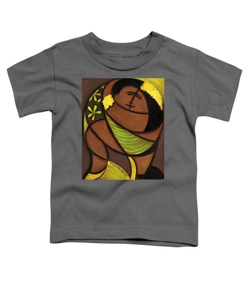 Hawaiian Couple Dancing Art Print Toddler T-Shirt