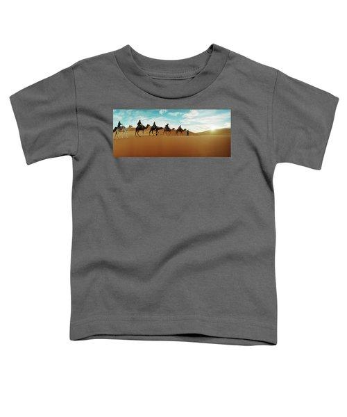 Tourists Riding Camels Toddler T-Shirt