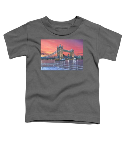Tower Bridge After The Snow Toddler T-Shirt by Richard Harpum