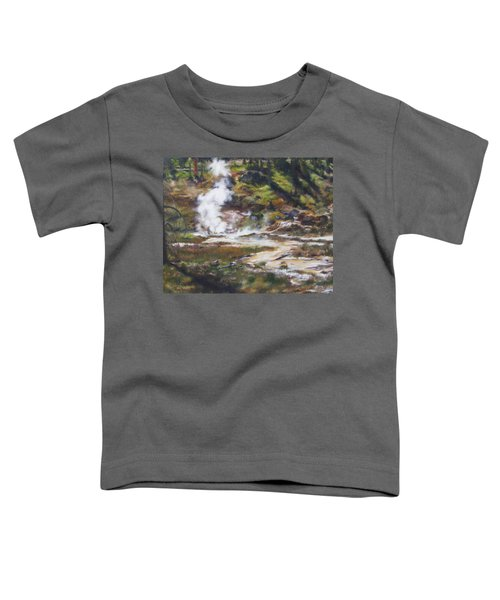 Trail To The Artists Paint Pots - Yellowstone Toddler T-Shirt