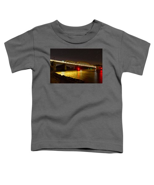 Train Lights In The Night Toddler T-Shirt by Miroslava Jurcik