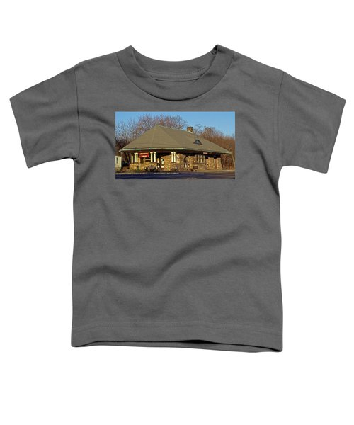 Train Stations And Libraries Toddler T-Shirt by Skip Willits