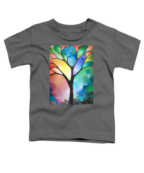 Original Art Abstract Art Acrylic Painting Tree Of Light By Sally Trace Fine Art Toddler T-Shirt