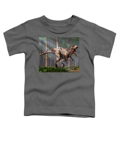 Trex In The Forest Toddler T-Shirt