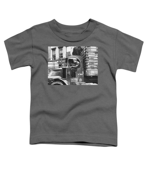 Truck Driver In His Cab Toddler T-Shirt