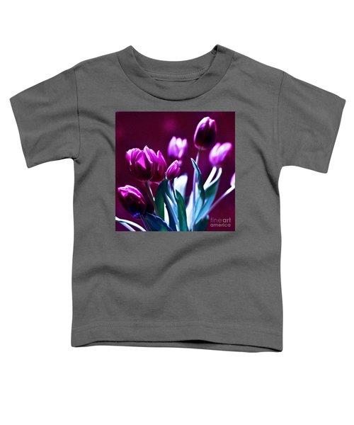 Purple Tulips Toddler T-Shirt