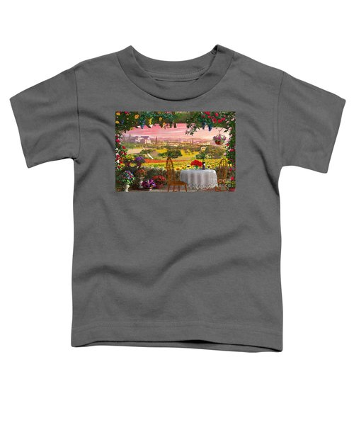 Tuscany Hills Toddler T-Shirt by Dominic Davison