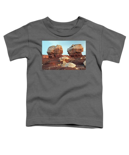 Twin Rocks At Sunrise Capitol Reef National Park Toddler T-Shirt