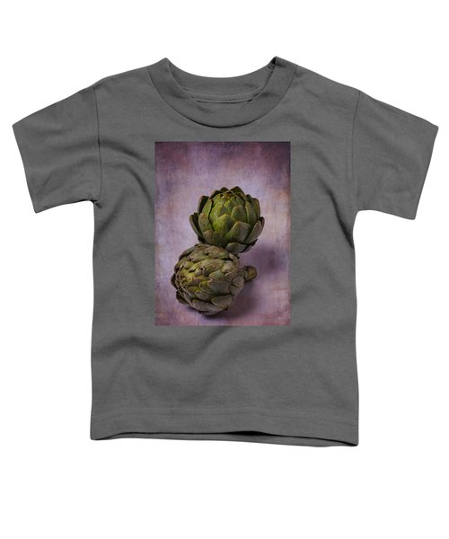 Two Artichokes Toddler T-Shirt by Garry Gay