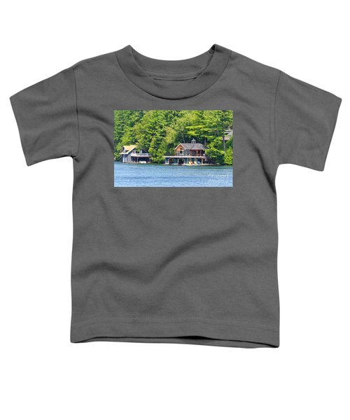 Two Luxury Boathouses Toddler T-Shirt