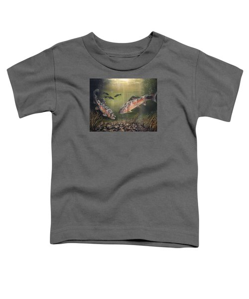 Two Rainbow Trout Toddler T-Shirt